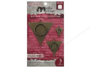 Spellbinders Media Mixage Bezels Triangles Three Bronze