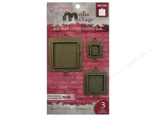 Spellbinders Media Mixage Bezels Squares Two Bronze