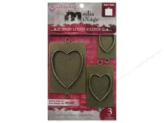 Spellbinders Media Mixage Bezels Hearts Two Bronze
