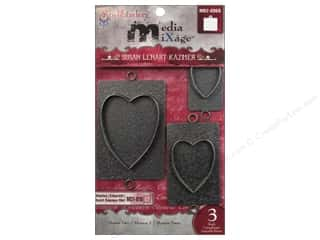 Spellbinders Media Mixage Bezels Hearts Two Silver