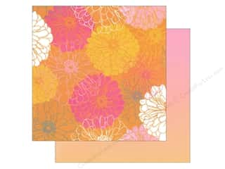 "Blend Clearance: Blend Paper 12""x 12"" Blomma Elioso Orange (25 pieces)"