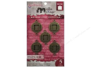Spellbinders Media Mixage Bezels Circles Two Bronze 5 pc.