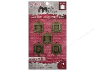 Spellbinders Media Mixage Bezels Squares Two Bronze 5 pc.