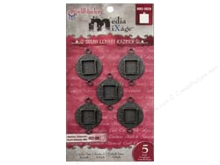 Spellbinders Media Mixage Bezels Circles Two Silver 5 pc.