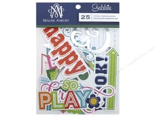 Anna Griffin Paper Die Cuts / Paper Shapes: Blend Die Cut Gabbie Titles