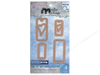 Spellbinders Media Mixage Blank Dies Hearts Three