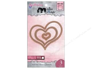 Dies Hearts: Spellbinders Media Mixage Bezel Dies Hearts One