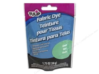 Fabric Clearance Crafts: Tulip Permanent Fabric Dye Powder 1.75 oz. Green