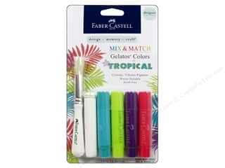 Foam Daubers Art Accessories: FaberCastell Gelatos Designer Colors 4 pc. Tropical