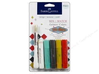 Foam Daubers Art Accessories: FaberCastell Gelatos Designer Colors 4 pc. 50's Diner