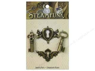 Charms: Solid Oak Charm Steampunk Drawer Latches Imitation Gold