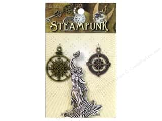 Solid Oak Charm Steampunk Nautical