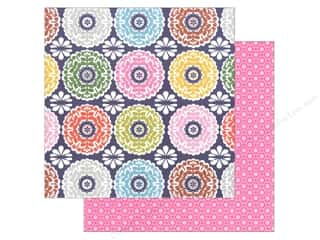 "Generations Flowers: Blend Paper 12""x 12"" Gabbie Kaleidoscope Navy (25 pieces)"