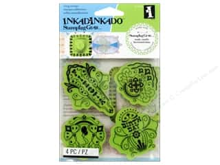 Clearance Plaid Stamps Clear: Inkadinkado Stamping Gear Rubber Stamp Birthday Fiesta