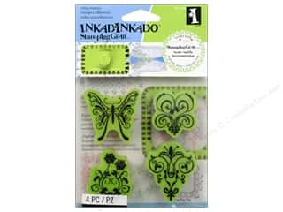 Inkadinkado Stamping Gear Stamps Cling Butterfly Garden