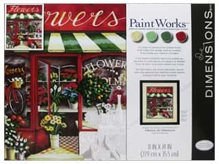 Paintworks Paint By Number Kit 11 x 14 in. Flower Shoppe