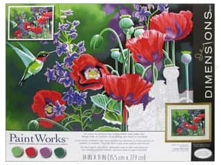 Paintworks Paint By Number 14x11 Humbird &amp; Poppies