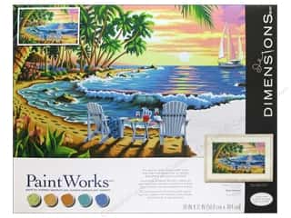 "Beach & Nautical Crafting Kits: Paintworks Paint By Number 20""x 12"" Sunset Beach"