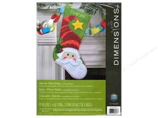 felting kits: Dimensions Applique Kit Felt Santa Stocking