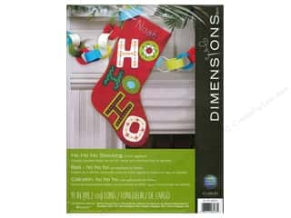 felting kits: Dimensions Applique Kit Felt Ho Ho Ho Stocking