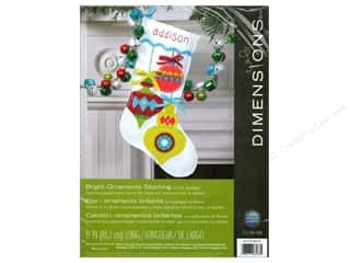 Projects & Kits Christmas: Dimensions Applique Kit Felt Bright Ornaments Stocking