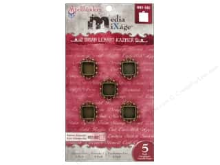 Spellbinders Media Mixage Bezels Squares One Bronze 5 pc.