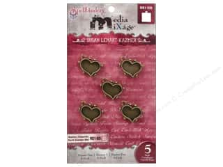 Spellbinders Media Mixage Bezels Hearts One Bronze 5 pc.