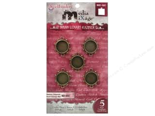Spellbinders Media Mixage Bezels Circles Three Bronze 5 pc.