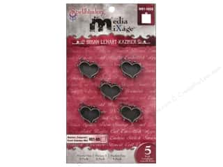 Spellbinders Media Mixage Bezels Hearts One Silver 5 pc.
