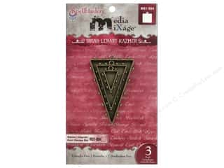 Weekly Specials Resin & Bezels: Spellbinders Media Mixage Bezels Triangles One Bronze