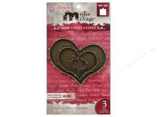 Spellbinders Media Mixage Bezels Hearts One Bronze