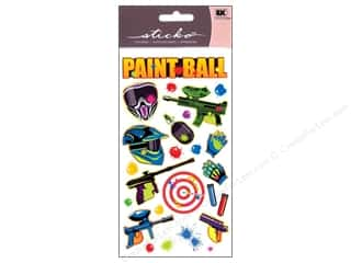 Craft Guns Blue: EK Sticko Stickers Paint Ball