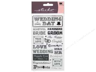 phrase stickers: EK Sticko Stickers Black Tie Phrases