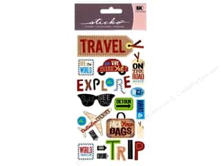 Flowers EK Sticko Stickers: EK Sticko Stickers Happy Traveling