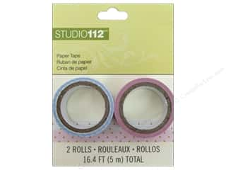 Love & Romance Glues, Adhesives & Tapes: K&Company Tape Studio 112 Paper Geometric