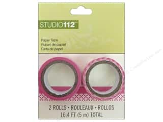Love & Romance Glues, Adhesives & Tapes: K&Company Tape Studio 112 Paper Pink