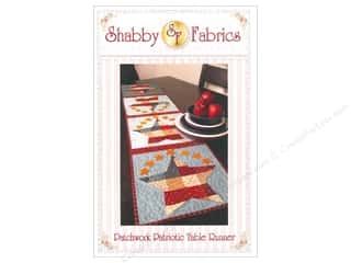 Clearance Memorial / Veteran's Day: Shabby Fabrics Patchwork Patriotic Table Runner Pattern