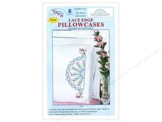Pillow Shams Jack Dempsey Pillowcase Hemstitched White: Jack Dempsey Pillowcase Lace Edge White Fan