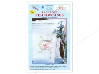 Pillow Shams Jack Dempsey Pillowcase Lace Edge White: Jack Dempsey Pillowcase Lace Edge White Vintage Lady