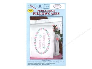 oval hoop: Jack Dempsey Pillowcase Perle Edge Sweet Dreams