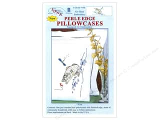 Jack Dempsey Jack Dempsey Pillowcase Lace Edge White: Jack Dempsey Pillowcase Perle Edge White Fish