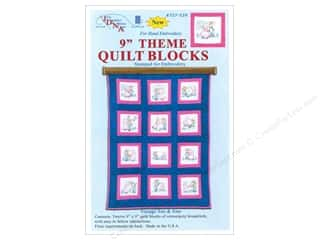 "Jack Dempsey 9"" Quilt Blocks 12pc Sunbonnet Sue & Sam"