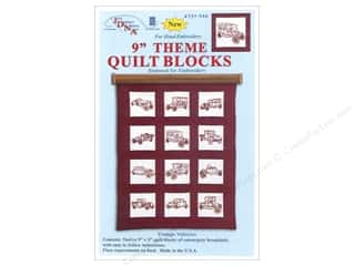 Jack Dempsey 9 in. Quilt Blocks 12 pc. Vintage Vehicles
