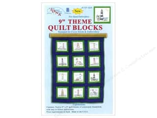 Jack Dempsey Jack Dempsey Nursery Quilt Block 12pc: Jack Dempsey 9 in. Quilt Blocks 12 pc. Lighthouses