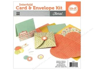 Weekly Specials Scrapbooking Kits: We R Memory Card & Envelope Kit Interfold Floral