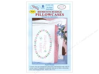oval hoop: Jack Dempsey Pillowcase Hemstitched White Sweet Dreams