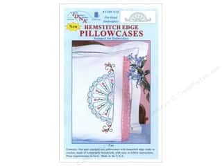 Pillow Shams Jack Dempsey Pillowcase Hemstitched White: Jack Dempsey Pillowcase Hemstitched White Fan