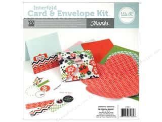 card & envelopes: We R Memory Card & Envelope Kit Interfold Thanks