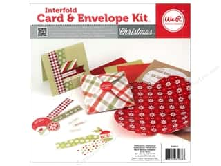 Note Cards Christmas: We R Memory Card & Envelope Kit Interfold Christmas
