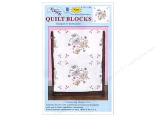 "Jack Dempsey Quilt Blocks 18"" 6pc Fluttering Butterflies"